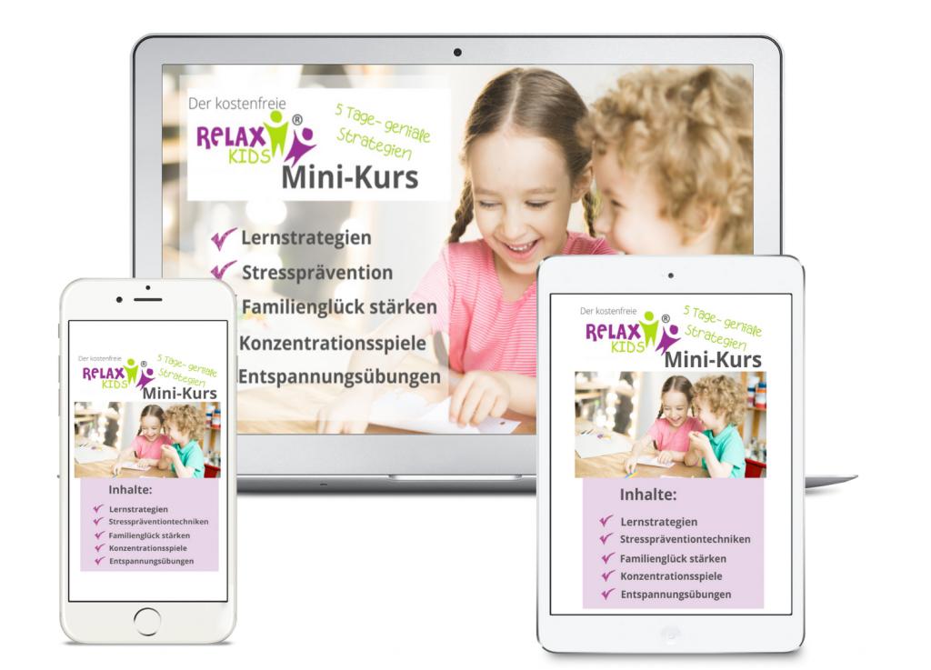 Gratis Minikurs RelaxKids Entspannung, Familienglück, Lernstrategien, Stressprävention und Konzentration bei Kindern
