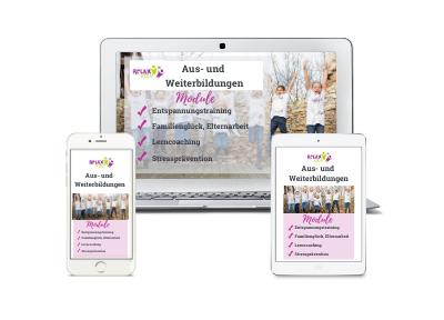 RelaxKids® Logo Aus- und Weiterbildung Entspannungstrainer, Lerncoach Stresspräventionstrainer